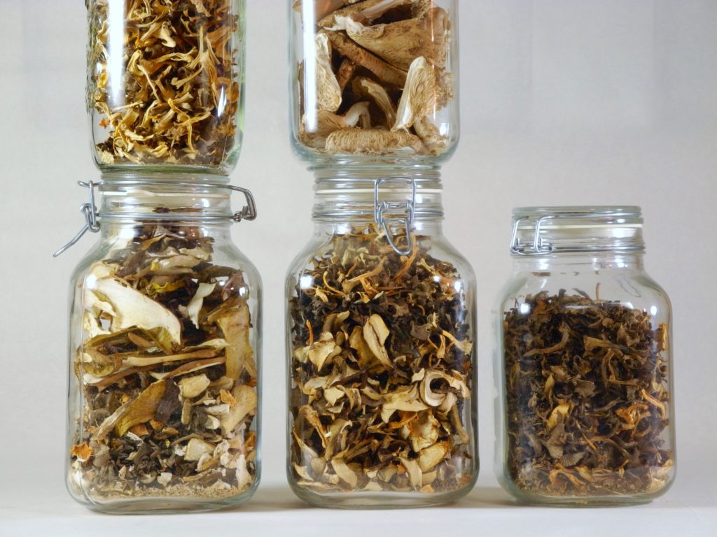 getrocknete Pilze